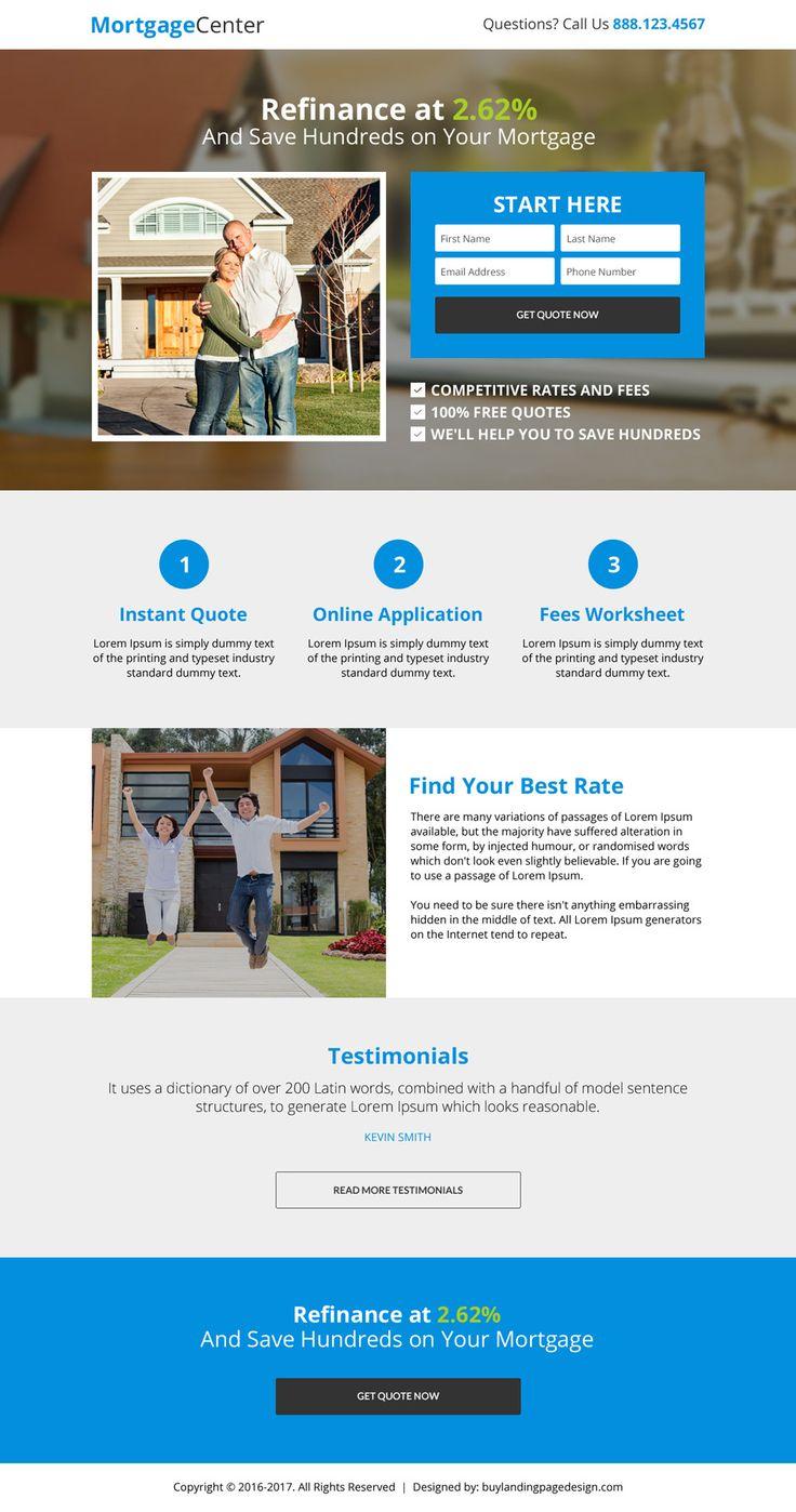 53 best mortgage landing page design images on Pinterest | Landing ...