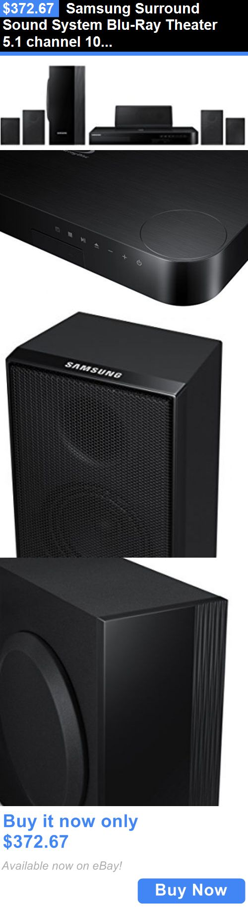 Home Theater Systems: Samsung Surround Sound System Blu-Ray Theater 5.1 Channel 1000 Wt 5 Speaker Sub BUY IT NOW ONLY: $372.67