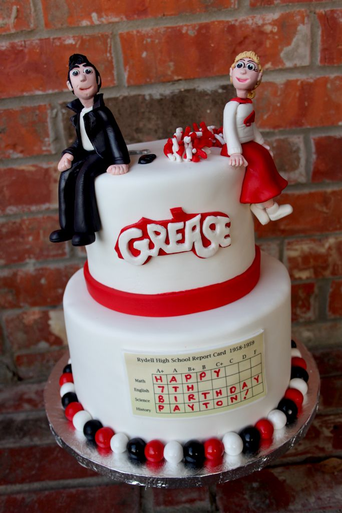 GREASE Themed Cake Grease 50s Party Pinterest