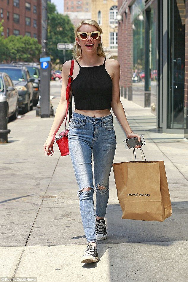 She's ripped! Emma Roberts proved on Thursday that her casual wear is just as appealing as she stepped out in a crop top for some shopping in New York City: