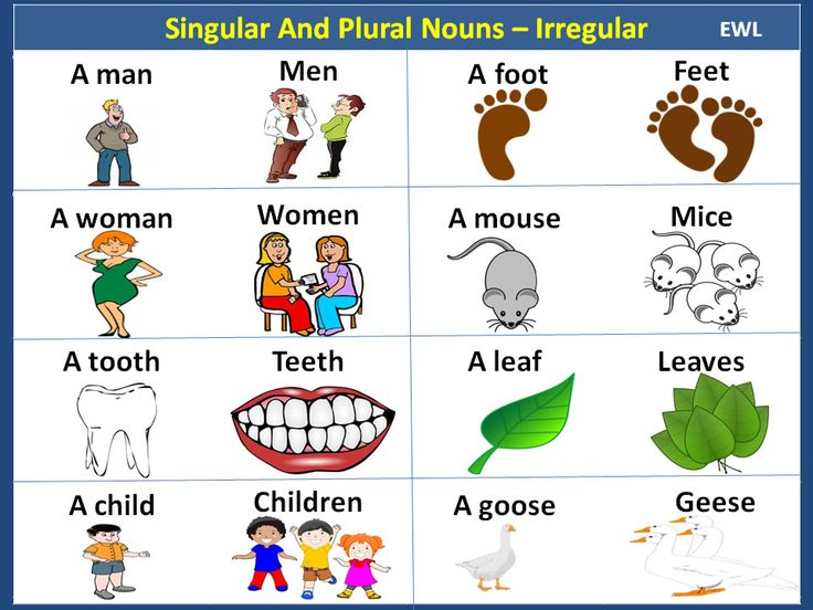 how to teach irregular plural nouns