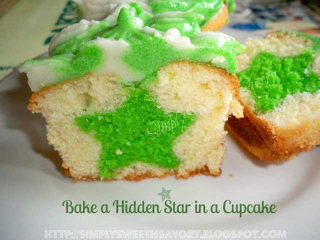 Simply Sweet 'n Savory: Pakistan's Independence Day : Bake a Hidden Star in a Cupcake