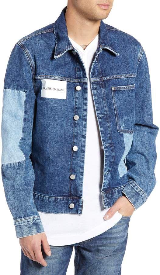 fa4796c21 Calvin Klein Jeans Patch One-Pocket Denim Jacket   Mens Denim ...