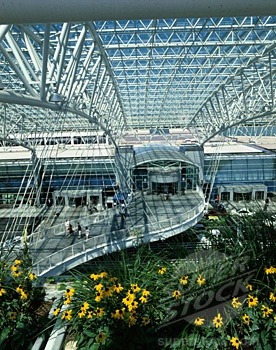 Portland International Airport, one of the most beautiful in the country. Portland, Oregon.