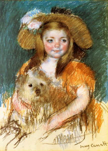 Child Holding a Dog by Mary Cassatt | Art Posters & Prints