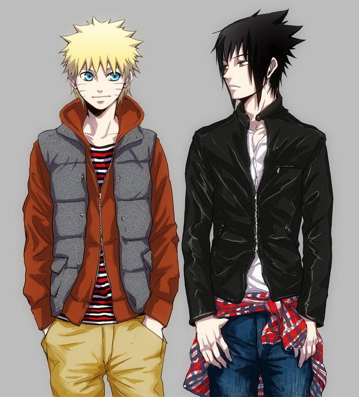Naruto and sasuke modern universenaruto modern animal lovers naruto