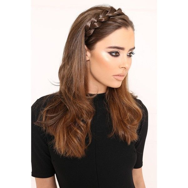 Luxe Plaited Hair Braid Band (54 PEN) ❤ liked on Polyvore featuring accessories and hair accessories