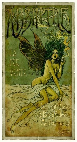 Art Nouveau absinthe ad by sharonsparkles