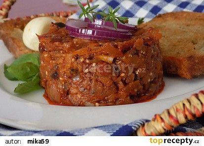 """""""Tataráček"""" z lilku a sušených rajčat recept - TopRecepty.cz"""