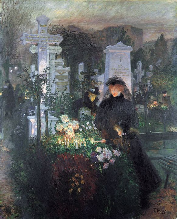 """""""All Souls Day (Hedwig Cemetery)"""" by Franz Skarbina, 1896"""
