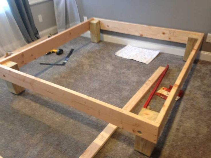 The mattress underground king sized deck diy bed frame for Diy king bed frame ideas