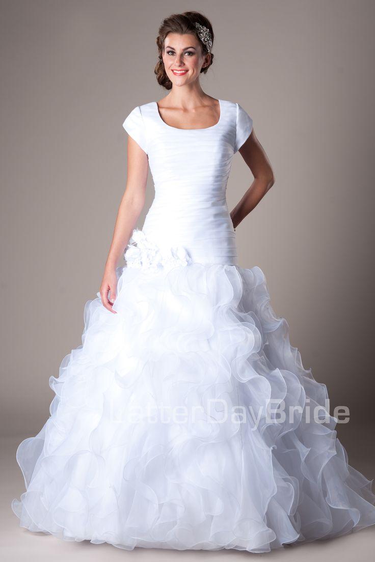 Best 25 mormon wedding dresses ideas on pinterest for Elegant modest wedding dresses