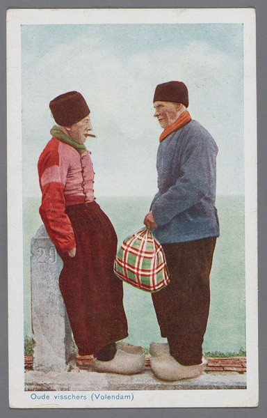 Oude visschers    Old fishermen (Volendam)