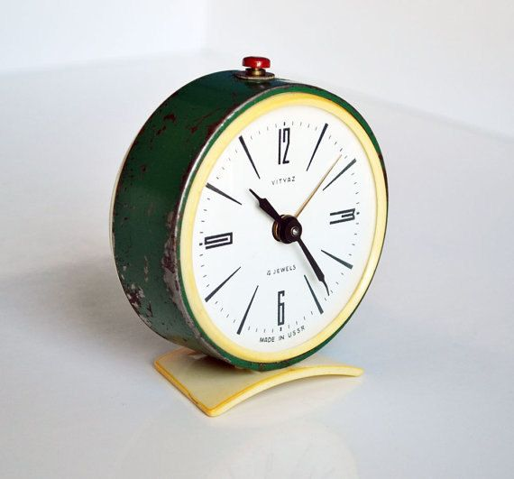 Vintage Soviet Alarm Clock Retro Alarm Clock Very Old Alarm