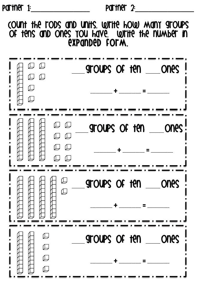 FREEBIE: Place Value from the Tattling to the Teacher blog!