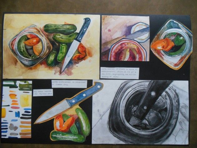 Pickles! An IGCSE Art project by Lelia