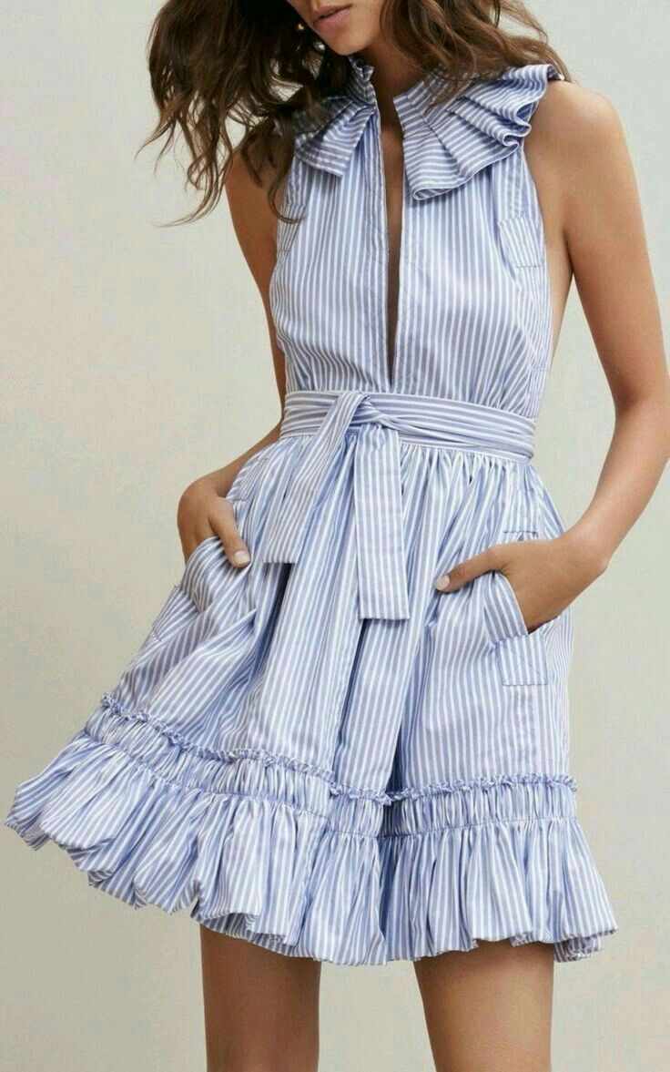 9a770eb35c Vintage blue white Striped Ruffled Dress women sexy deep V Neck off  shoulder Dresses summer Backless Tie waist party Vestidos. 2017 Style  Trends