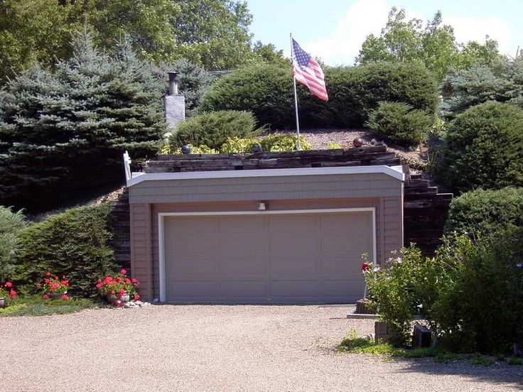 47 best earth shelter homes images on pinterest for House plans with underground garage