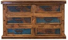 Six Drawer Dresser w/ Turquoise Copper