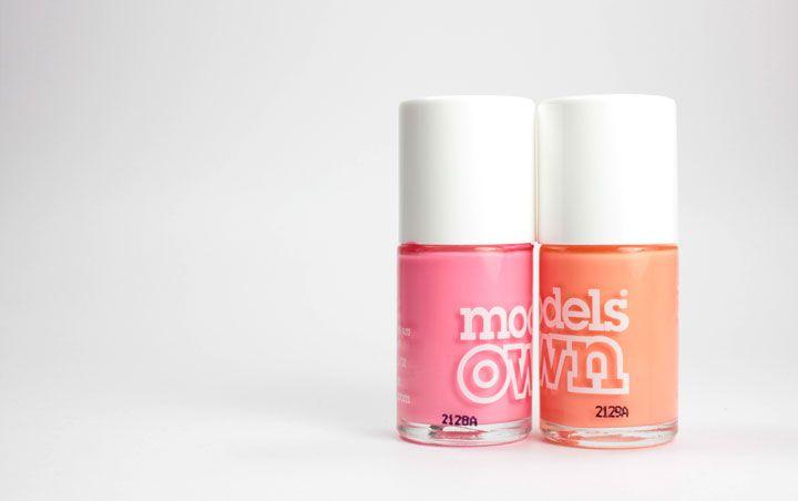 Manucure rose et pêche avec Soda Pop Pink et Peaches and Cream de Models Own sur Bec & Ongles