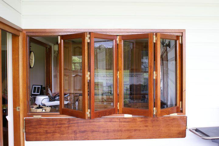 Kitchen bifold windows creating outside bar