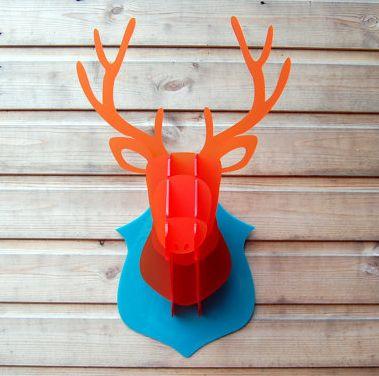 Laser cut perspex stag head