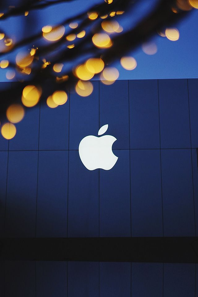 iPhone wallpaper | ng07-apple-logo-blue-dark