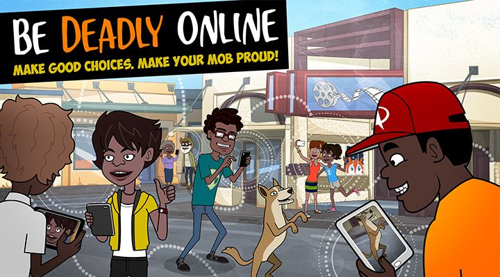 Be Deadly Online is an animation and poster campaign about big issues online, like bullying, reputation and respect for others.  Developed with deadly Indigenous writers and voice actors, all Australians can enjoy these short, fun animations and learn about how we want to behave together online.