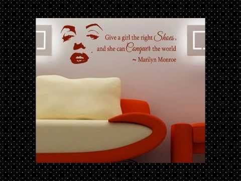 Marilyn monroe wall decals youtube decorate your home pintere