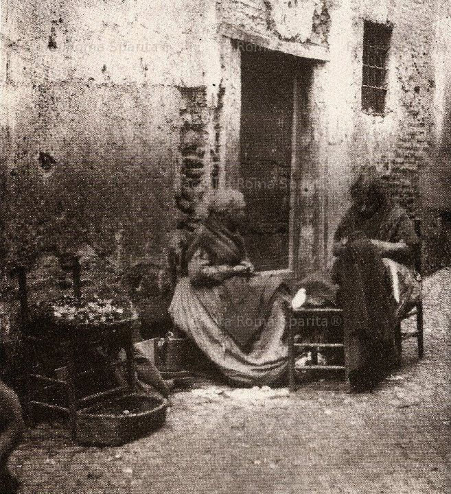 venditrici di castaghe, ghetto ebraico, 1880