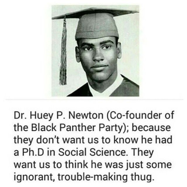 How many people out there actually know of this man's academic credentials? Dude had a doctorate in social science but like to paint his legacy as being an angry black man who promoted hate.  #doctorate #scholar #hueypnewton #hueynewton #blackpanthers #blackpantherparty #didyouknow #questioneverything #knowledgeofself #knowledgeispower #knowyourhistory #distortedfacts #whitewashed #distortedtruth #blackscholars #blackhistory #blackpower #blackunity #powertothepeople #freehuey #hueyfreeman…