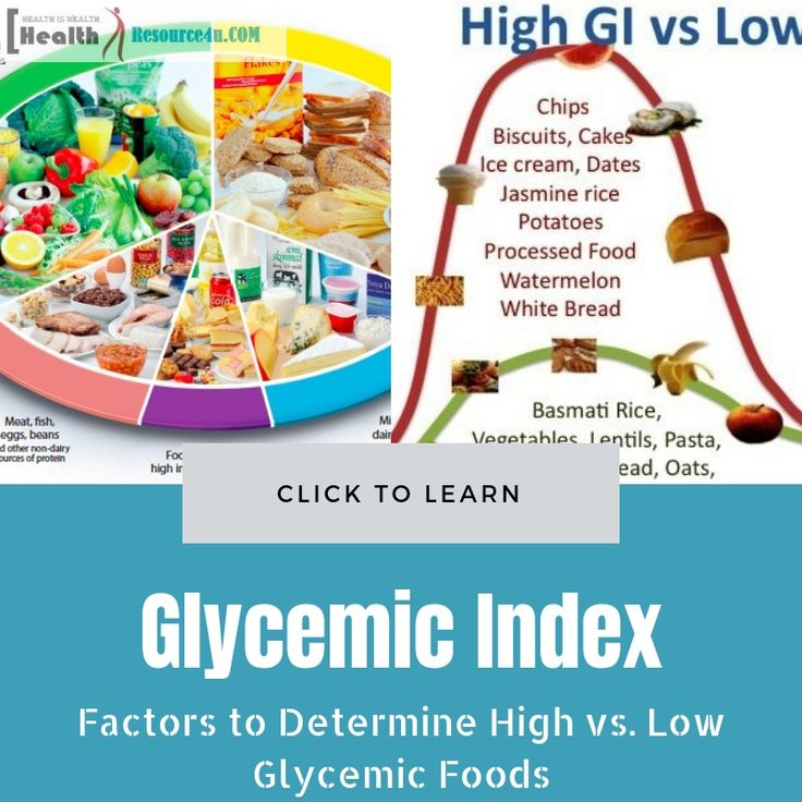 Glycemic index factors to determine high vs low