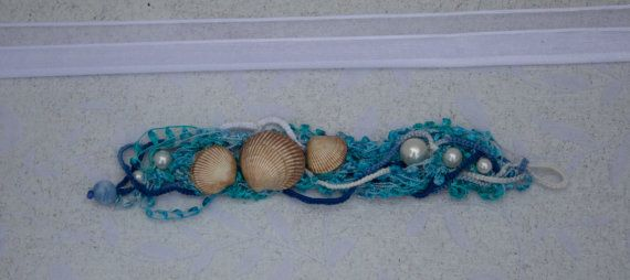 Tatted+Sea+Shells+and+Pearls++Ocean+Spray+by+KateMaderDecor