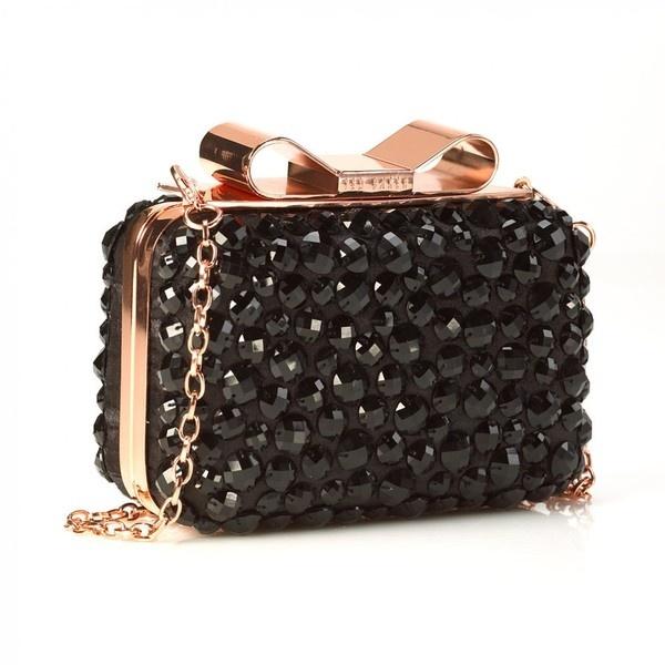 Ted Baker Bag, Black Jacana Large Bow Opaque Bobble Clutch Handbag ❤ liked on Polyvore