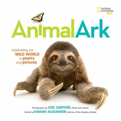 "Animal Ark Celebrating Our Wild World in Poetry and Pictures (Book) : Alexander, Kwame : ""A howling wolf, a stalking tiger, a playful panda, a dancing bird--pairing the stunning photography of National Geographic photographer Joel Sartore with the delicate poetry of Newbery award-winning author Kwame Alexander, this lush picture book celebrates the beauty, diversity, and fragility of the animal world. Featuring more than 40 unique animal portraits, the pages invite kids to explore each…"
