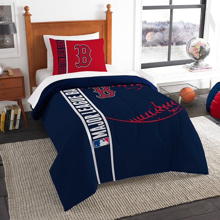 Boston Red Sox MLB Twin Comforter Set (Soft & Cozy) (64 x 86)