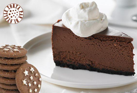 La Cheesecake Pan di Stelle è una golosissima cheesecake al cioccolato con base di biscotti al cacao