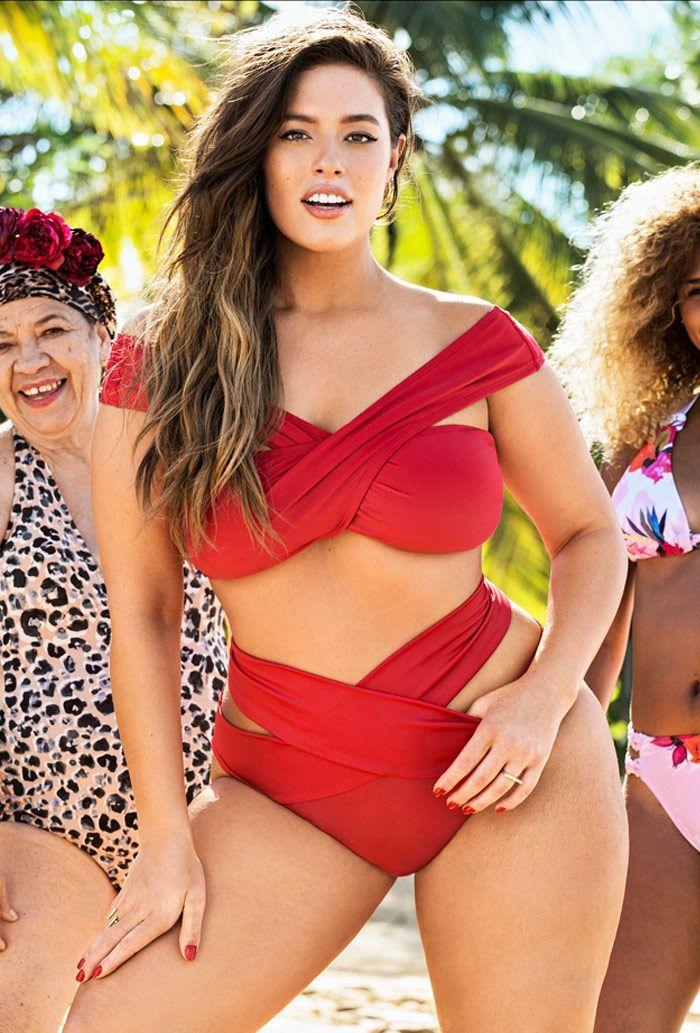 Plus Size Swimsuit - Ashley Graham x swimsuitsforall Guapa Bikini Swimsuit