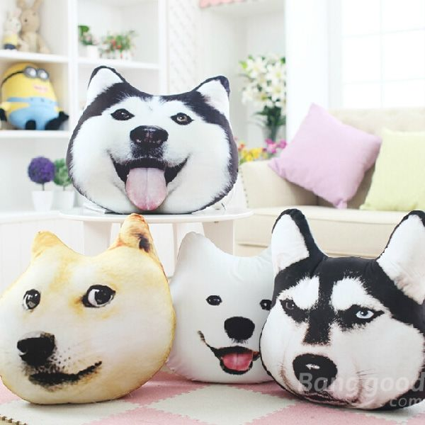 Funny 3Dprinted Husky Throw Pillow ❤~~~
