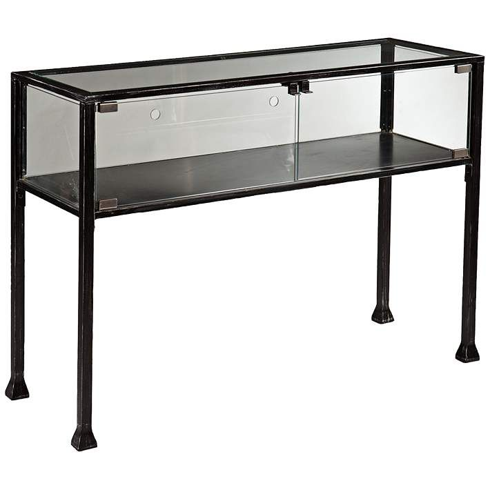 Terrance 42 1/2″ Wide Glass Display Case Console Table – #35E82 | Lamps Plus