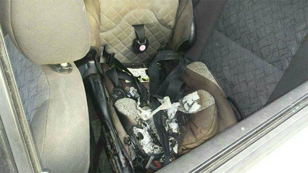 Familia con niños heridos en ataque con bomba incendiaria