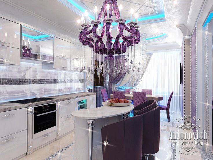 Countertop Dishwasher Dubai : ... Purple kitchen, Traditional kitchen cabinets and Appliances
