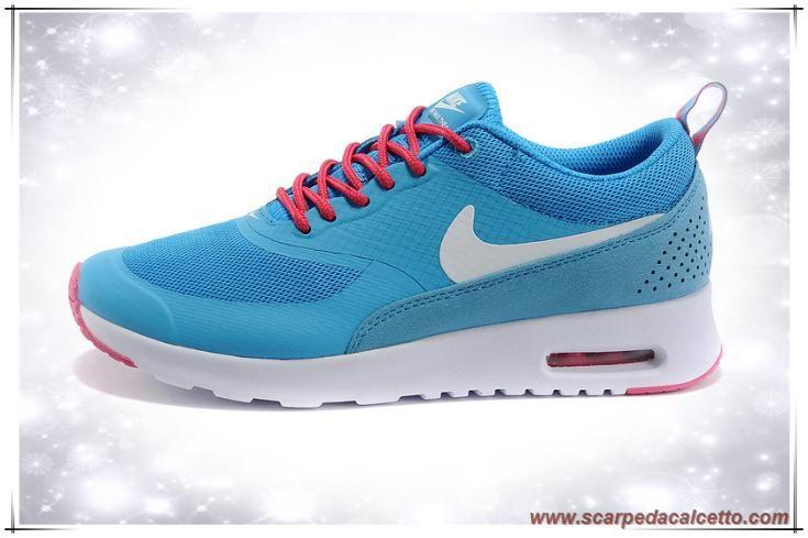 scarpe calcio bambino Donna Nike Air Max Thea Print Cielo Blu / Rosa / Bianco 616723-808