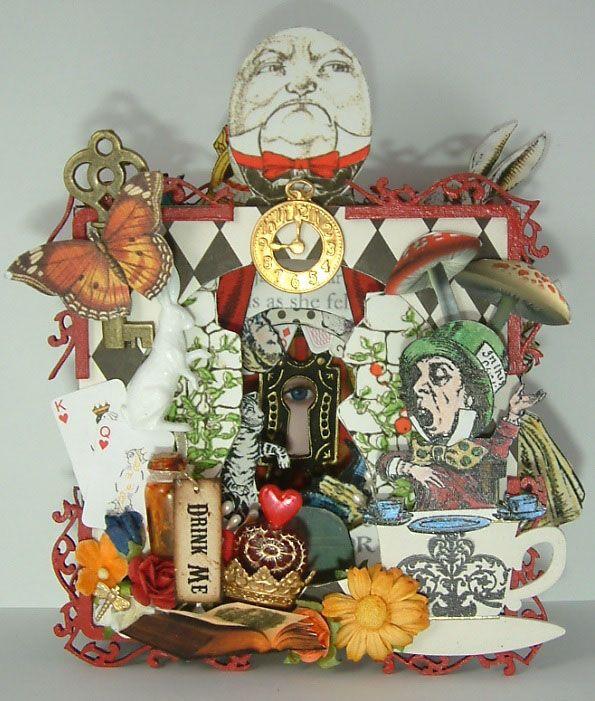 Artfully Musing: Alice in Wonderland Tunnel Book