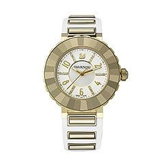 New Octea Sport White Light Gold Tone Montre