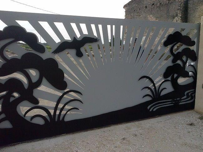portail design, portail metal decoupe, portail soleil, portail design, portail m