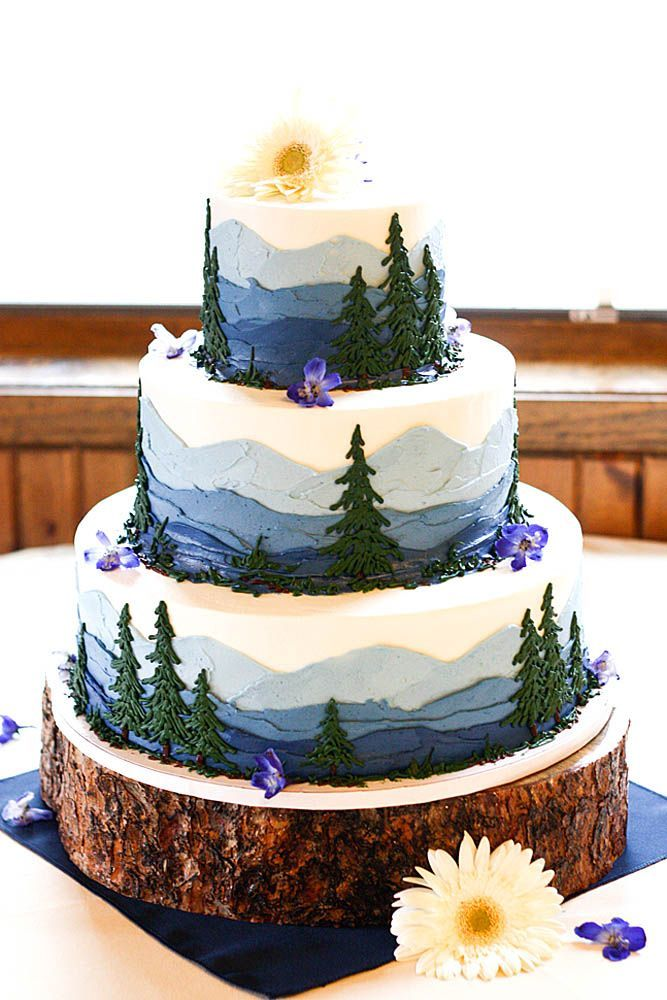 Must-See Rustic Woodland Themed Wedding Cakes ❤ See more: http://www.weddingforward.com/woodland-themed-wedding-cakes/ #weddings