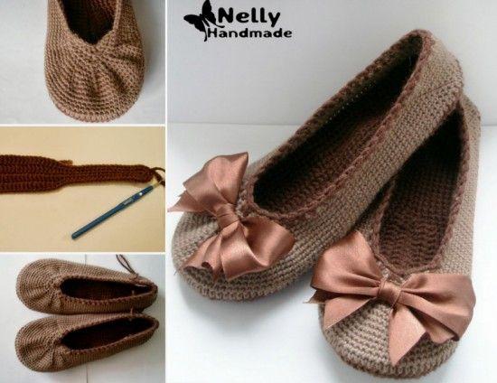 Crochet Ballerina Flats Free Pattern
