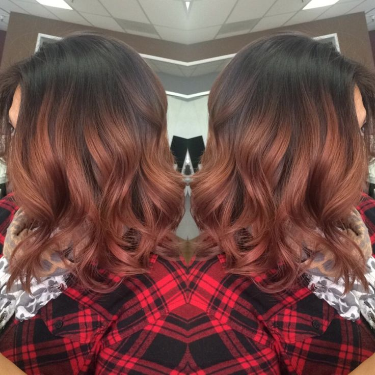 Pj's Hairstyling - Fairfield, CA, United States. Rose gold balayage and haircut done by hairstylist Ana.