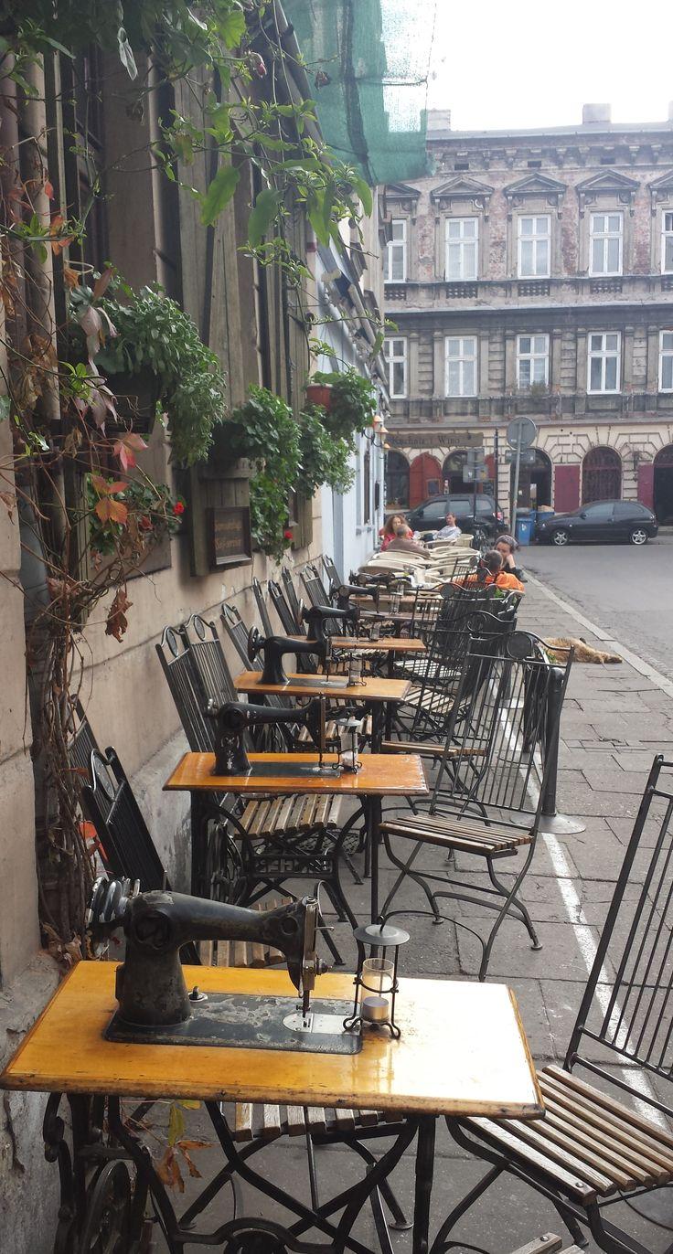 Coffee shop in Krakow, Poland
